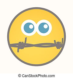 Silent - Cartoon Smiley Vector Face