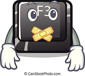 Silent f3 button installed on cartoon computer