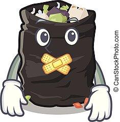 Silent garbage bag behind the character door