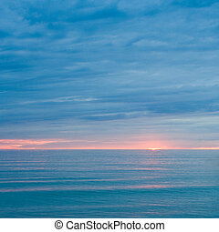 silent, hav, ind, den, halvmørket