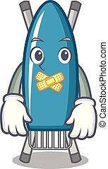 Silent iron board mascot cartoon