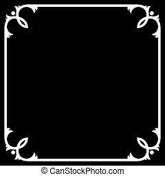Silent Movie Black Frame with White Border. Vector