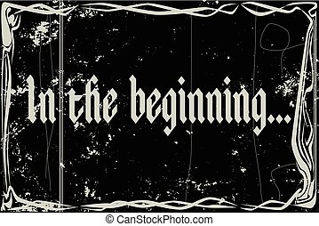 Silent Movie Frame In The Beginning - heavy grunge silent...