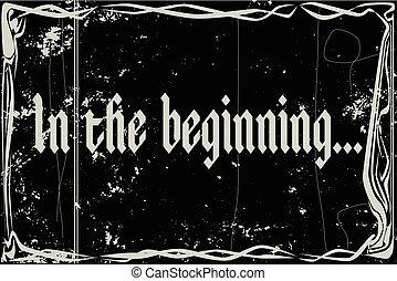 Silent Movie Frame In The Beginning - heavy grunge silent ...