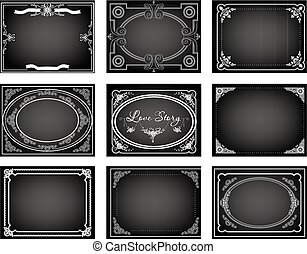 silent movie title frames - Set of nine old silent movie...