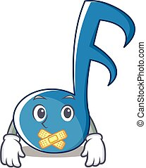Silent Music Note Character Cartoon