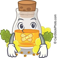 Silent mustard oil in the cartoon shape