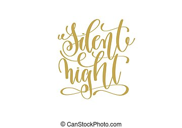 silent night hand lettering holiday inscription to christmas...