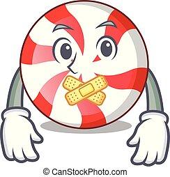 Silent peppermint candy mascot cartoon