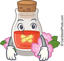 Silent rosehip seed oil on a mascot