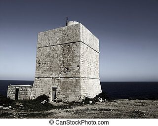 Silent Sentinel - Medieval defense tower situated in a...