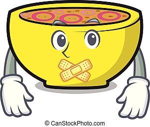 Silent soup union mascot cartoon