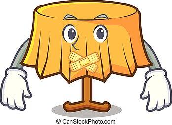 Silent table cloth mascot cartoon vector illustration
