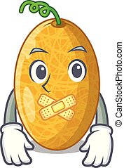 Silent tasty honeydew melon isolated on mascot