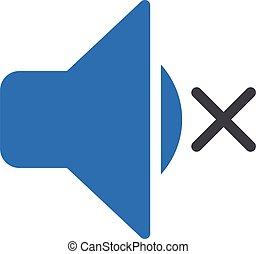 silent vector glyph color icon