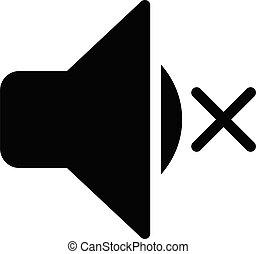 silent vector glyph flat icon
