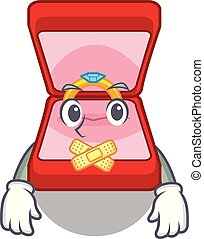 Silent wedding ring box in character bag