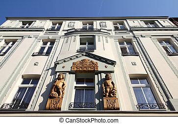 Bytom, Silesia region in Poland. Architecture in Dworcowa street.