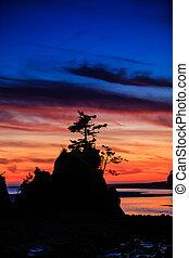 Siletz Bay Sunset in Oregon