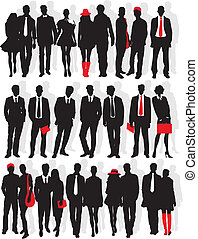 silhouete of people