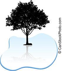 silhouette., 木