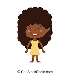 silhouette afro girl with dress