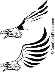 silhouette aigle