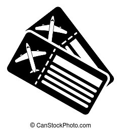 silhouette airline tickets pass airplane