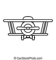 silhouette airplane toy flat icon