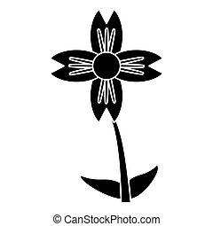 silhouette amaryllis flower natural