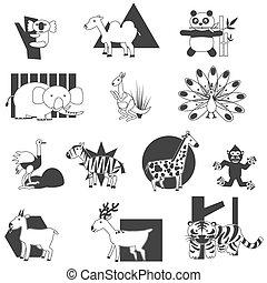 Silhouette animal icons