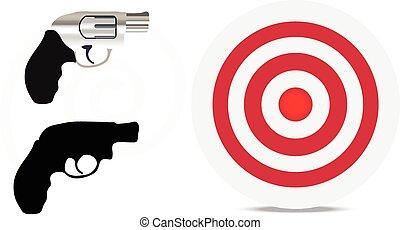 silhouette, arme feu