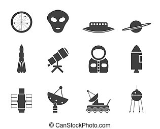 Silhouette Astronautics and Space I