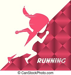 silhouette athlete woman running in competition championship