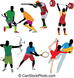 silhouette, atleta