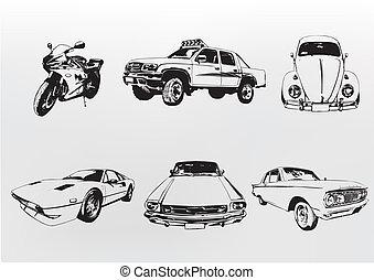 silhouette, auto's