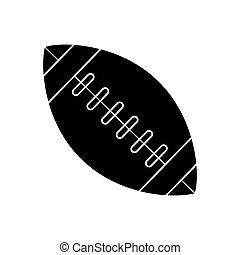 silhouette, balle, football américain, sport