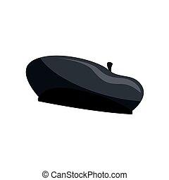 silhouette, basco, illustrazione, vettore, nero, francese