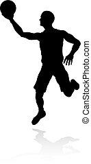 Silhouette Basketball Player