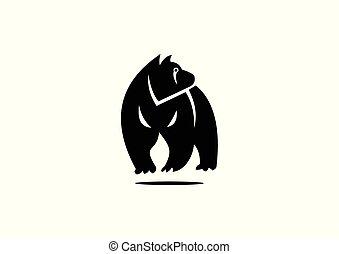 silhouette bear design
