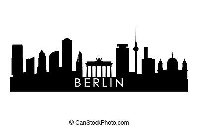 silhouette., berlino, orizzonte