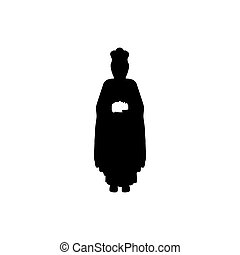 silhouette body wise men with gifts