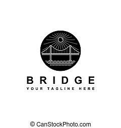 silhouette bridge symbol