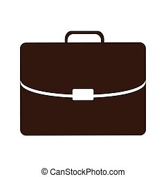 silhouette briefcase executive icon flat