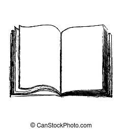 Livre Ouvert Pate Illustration Pages Vecteur Vide