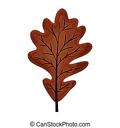 silhouette brown color of dried leaves oak