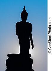 silhouette, buddha
