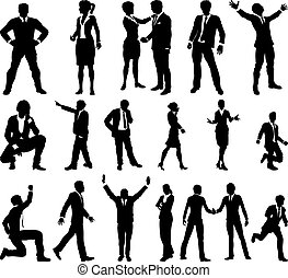 Silhouette Business People Set - A set of very high quality...