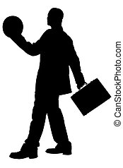 silhouette, business