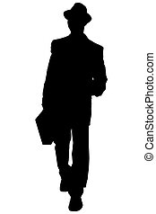 Silhouette Business - Silhouette over white with clipping...
